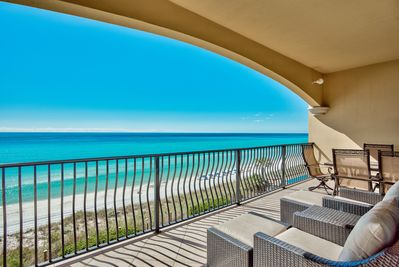 Newly updated patio furniture - Sip coffee or toast the sunset in the new patio furniture. Your Friend at The Beach keeps every one of its condos at Adagio in five star condition - just read our reviews.