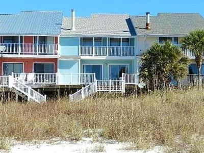 Photo for Beachfront Townhouse, Views From All Rooms, Private Balcony, Steps To The Beach
