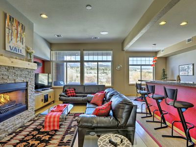 Photo for Modern Silverthorne Townhome w/Hot Tub & Mtn Views