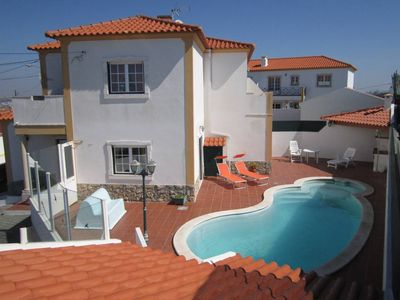 Photo for Large house with sea views and private heated pool, families welcome