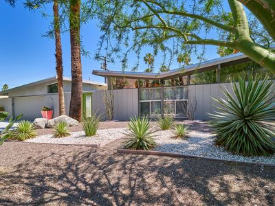 Photo for Twin Palms Midcentury Modern Gem With Pool, Spa and Stunning Mountain Views