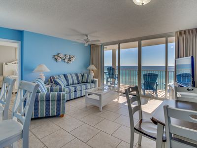 Photo for Oceanfront condo features easy beach access & shared pools & hot tub!