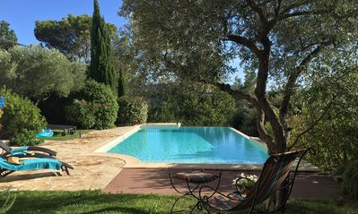 Photo for Villa with outdoor kitchen with pizza oven and large heated pool.