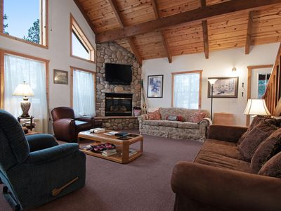 Photo for Cozy cabin in a private location w/ a gas fireplace, furnished deck, gas grill