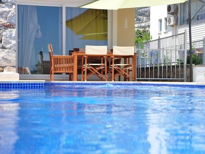 Photo for CEREN apartment CENTER OF KALKAN ! 3 Bedroom With Private Pool and Wifi 'Ceren