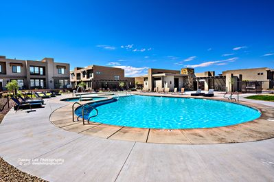 Community Pool - The community pool and hot tub are heated year-round and guests receive complimentary access when staying in our rental units.