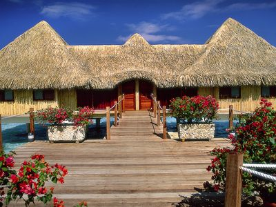 Overwater bungalow entry way