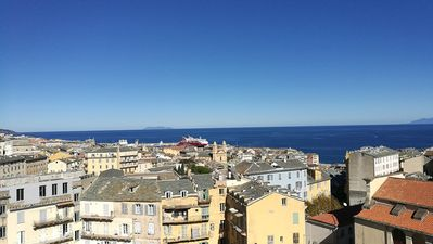 Photo for 4-star apartment with air conditioning, courthouse with sea view and Bastia 3 bedrooms, 2 bathrooms