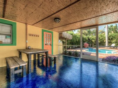 Photo for Ultimate Private getaway! Heated Pool. Tropical Paradise