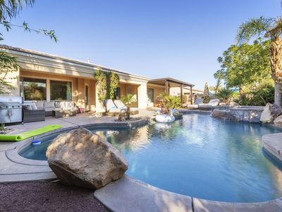 Photo for Walk to Coachella/Stagecoach! Magnificent Home w/ Casita, Pool, Spa, & Games!
