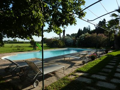 Photo for MAS master house fontvieille stones in 1.7 ha park pool pool house