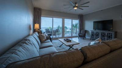 Photo for Luxury gulf front unit w/ seasonal beach service included!