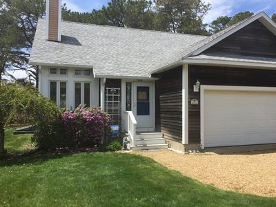 Photo for Vacation at Martha's Vineyard Swan Cottage, Edgartown's Quiet Forest Retreat.