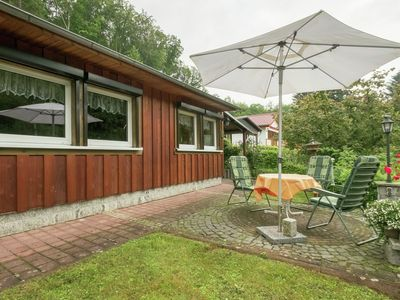 Photo for Detached holiday home in the southern Harz mountains with wood stove and private terrace