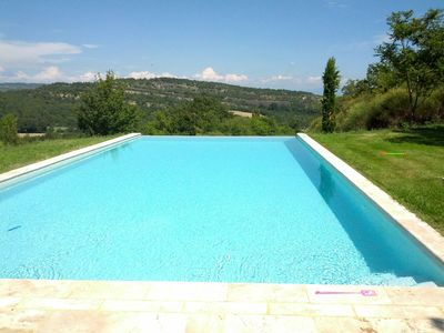Heated swimming pool of 100 sq. m in July and August