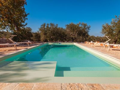 Photo for Trulli with pool in Monopoli for 5 guests