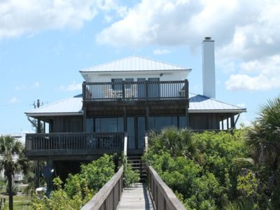 Photo for Gulf Front 3BR with multiple decks and community dock!  Sea La Vie, #0195, Little Gasparilla Island