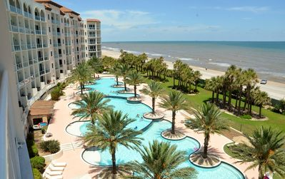 NO BETTER VIEW IN GALVESTON! 5TH Floor Corner Unit with Double Balcony