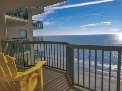 Photo for SPACIOUS OCEANFRONT 3 bedroom 3 bath with an  indoor pool, outdoor pool, lazy river, Jacuzzi, and fitness center