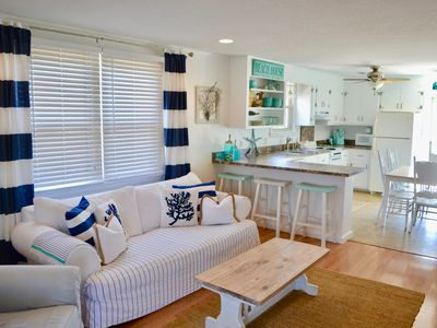 Photo for Remodeled DESIGNER Beach Cottage - Only 2 Blocks to the lifeguarded BEACH!!