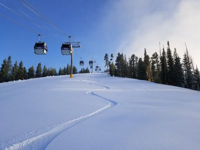 Photo for Winter Park Village across from the Gondola, Ski school and base activities