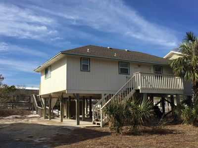 Photo for SALTY PAWS - Adorable gulf side getaway, 2 minute walk to the white sand beach