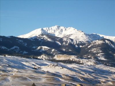 View of Electric Peak from barn deck