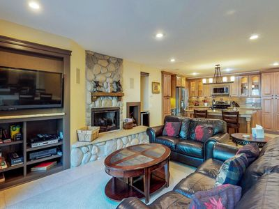 Photo for Luxurious, upscale condo w/ shared pool - walk to the lake, near the slopes!