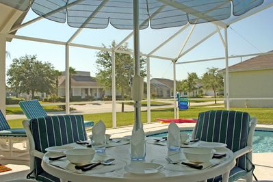Imagine yourself here? Fantastic Large South facing pool that our guests love.