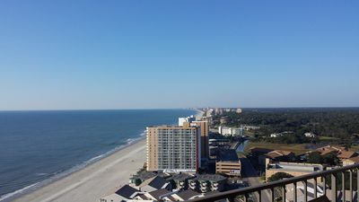 View of all of Myrtle Beach to Garden city 20 miles  away!!