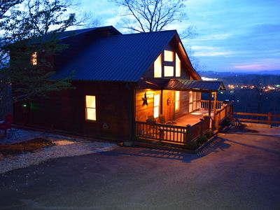 Photo for WELL UPDATED Rustic cabin, BEST in REVIEWS, Mtn. VIEW, LOCATION, RATES n Xtras!