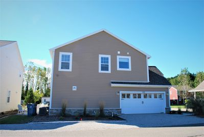 The Bridgewater Cottage's 2 car attached garage & ample driveway/street parking.
