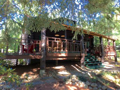 Photo for Waterfront Log home on Private Adirondack Lake near Lake George