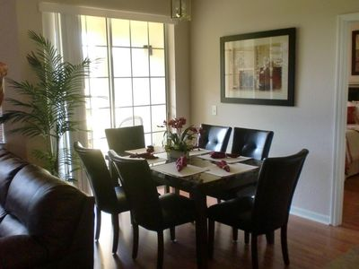 Spaciously Plush Dining Room Seating for Six