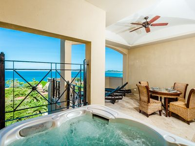 Private jacuzzi with views