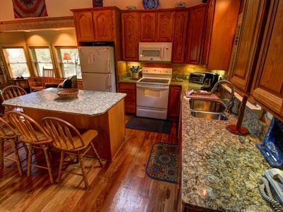 Photo for 4BR Cabin, Views of Grandfather Mtn, Hot Tub, Pool Table, Leather, Granite, Central to Attractions