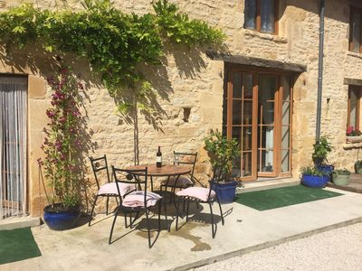 Photo for Converted barn In centre Village of Daglan Yards from River ..Sarlat 20 mins