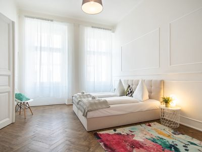 Photo for Bright and Spacious Apartment in Popular Prague's Neighbourhood by easyBNB