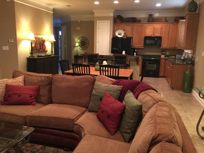 Living Area - Great Room, Dining Room & Kitchen