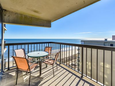 Photo for Bright, spacious 2 bedroom oceanfront condo with cable internet and a breathtaking ocean view with great amenities including two pools and a game room!
