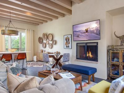 Photo for New Listing! Modern Gem w/ Chef's Kitchen, Courtyard & Outdoor Fireplace