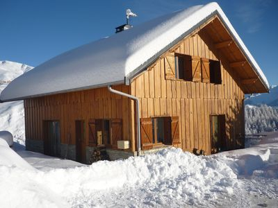 Photo for Cozy and spacious chalet, Le Corbier, 16 people, free WiFi