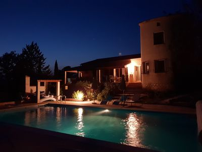 Photo for Quiet cottage with great views, heated pool and diving board, horses