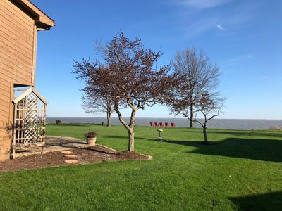 Photo for Waterfront Home with Private Pool & Hot Tub. Direct Access to Sandusky Bay
