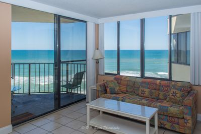 Beautiful panoramic views of the Gulf, entire back of the condo is windows!!!