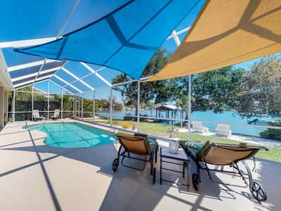 Photo for Lakefront private community home w/ heated pool & private dock, newly updated!
