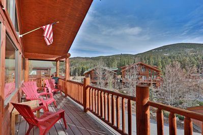 Large Deck with Views off of Living Room