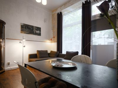 Photo for Apartment with bedroom + living room with open kitchen, bathroom with shower