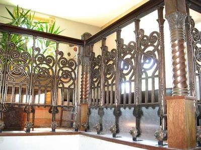 Antique stairwell guard recovered from 1880's Larimar Square buiding