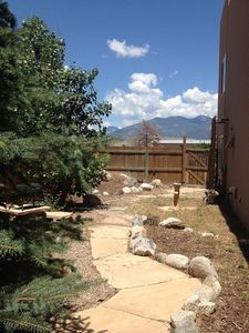 Side yard with Taos Mountain View